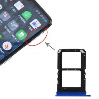 Für OPPO Realme X2 Pro SIM Card Tray + SIM Card Tray Karten Halter Blau Ersatz