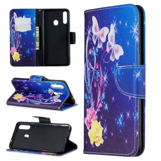 Für Samsung Galaxy A20e Kunstleder Tasche Book Motiv 40 Schutz Hülle Etuis Cover
