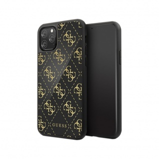 Guess Marble Collection Apple iPhone 11 Pro Schwarz Hard Case Cover Schutzhülle