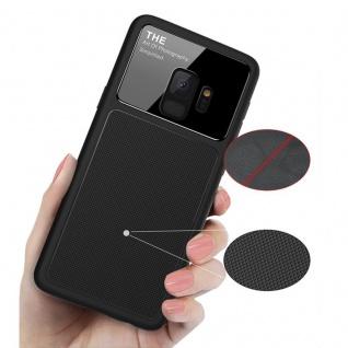 Design Cover Schwarz für Samsung Galaxy S9 G960F Schutz Etui Tasche Hülle Case - Vorschau 3
