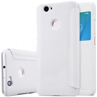 Premium Nillkin Smartcover Weiß für Huawei Nova Tasche Hülle Case Schutz Neu Top