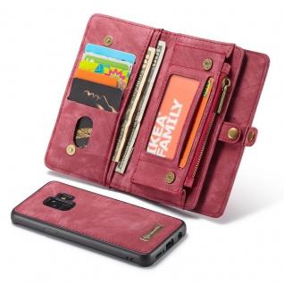 Schutzhülle Handy Tasche f. Samsung Galaxy S9 G960F Geldbeutel Hülle Etui Rot