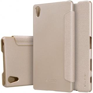 Nillkin Smartcover Gold für Sony Xperia Z5 Premium 5.5 Zoll Tasche Cover Hülle