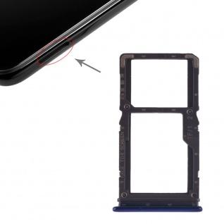 Sim Card Tray für Xiaomi Redmi Note 7 / Pro Blau Karten Halter Schlitten Ersatz