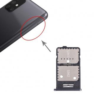 Dual Sim Karten + Micro SD Halter Card Tray für Samsung Galaxy M31s Silber