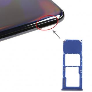 Sim Karten Halter für Samsung Galaxy A70 Blau Card Tray Micro SD Ersatz Zubehör