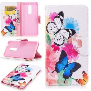 Tasche Wallet Motiv 33 für Nokia 5 Hülle Case Etui Cover Schutz Zubehör Premium
