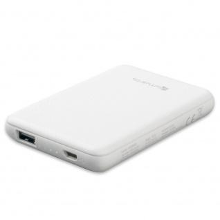 4smarts Powerbank VoltHub Go 5000 mAh Weiß Charging Elektro USB Kabel Zubehör
