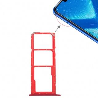 Ersatz Sim Karten Halter Adapter Sim Tray für Huawei Honor 8X Reparatur Rot Neu