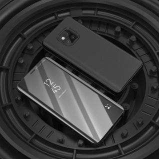 Für Huawei P30 Lite Clear View Smart Cover Schwarz Etuis Tasche Hülle Wake UP - Vorschau 2