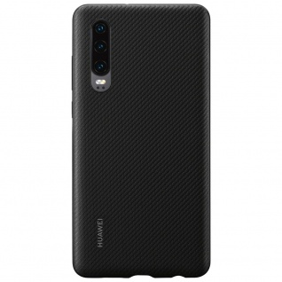 PU Case Schwarz für Huawei P30 51992992 Original Silikon Tasche Schutz Schale