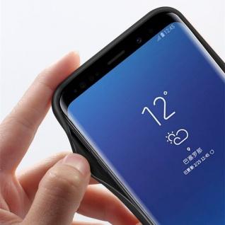 Design Cover Schwarz für Samsung Galaxy S9 G960F Schutz Etui Tasche Hülle Case - Vorschau 4