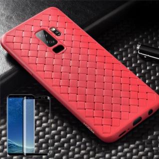 Für Samsung Galaxy S9 Plus Original ROCK Silikon Tasche Hülle Rot + 4D Glas Neu
