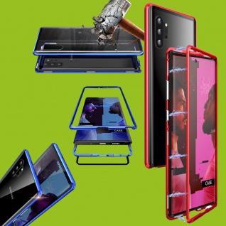Für Samsung Galaxy Note 10 N970F Magnet Metall Rot Transparent Tasche Etuis Case
