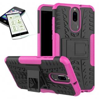Hybrid Case Tasche Outdoor 2teilig Pink für Huawei Mate 10 Lite Hülle + Glas Neu