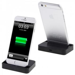Dockingstation für Apple iPhone 6 4.7 6 Plus 5.5 Tischladestation Schwarz Dock
