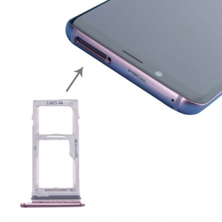 Für Samsung Galaxy S9 G960 / S9 Plus G965 Simkarten Halter Sim Tray SD Card Lila