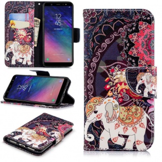 Für Samsung Galaxy A6 Plus A605 2018 Kunstleder Tasche Book Motiv 42 Hülle Case