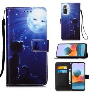 Für Xiaomi Redmi Note 10 Pro Kunst-Leder Handy Tasche Motiv 11 Hülle Case Etuis