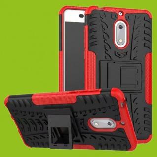 Für Nokia 3.1 5.2 Zoll Hybrid Case 2teilig Outdoor Rot Tasche Hülle Cover Neu