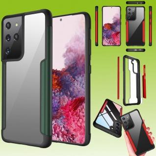Für Samsung Galaxy S21 Ultra Hybrid Iron Man Grün Handy Tasche Etuis Hülle
