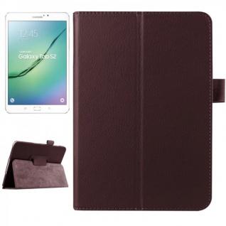 Schutzhülle Braun Tasche für Samsung Galaxy Tab S2 8.0 SM T710 T715N Hülle Case