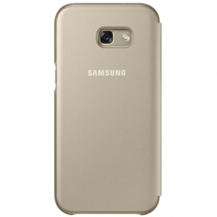 Samsung Neon Flip Cover Hülle EF-FA520PF Galaxy A5 2017 A520F Schutzhülle Gold - Vorschau 2