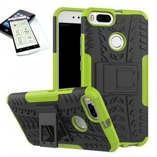 Hybrid Tasche Outdoor 2teilig Grün für Xiaomi Mi 5X Mi A1 Hülle Hartglas Case