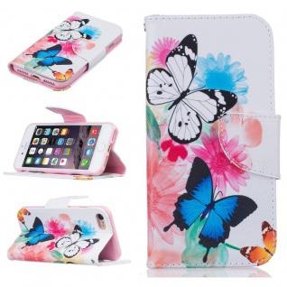 Schutzhülle Muster 62 für Apple iPhone 7 Bookcover Tasche Case Hülle Wallet Etui