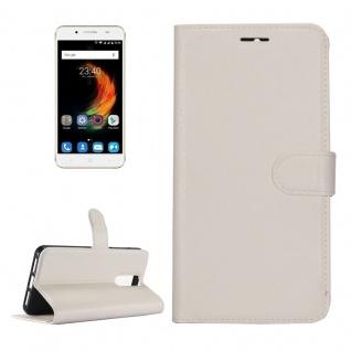 Tasche Wallet Premium Weiß für ZTE Blade A610 Plus Hülle Case Cover Etui Schutz