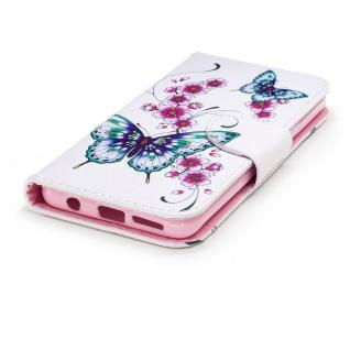 Tasche Wallet Book Muster Motiv 27 für Smartphones Schutz Hülle Case Cover Etui - Vorschau 4