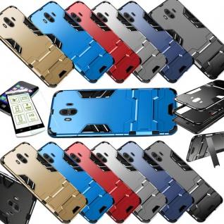 Für Huawei P Smart Plus Metal Style Outdoor Rot Tasche Hülle Cover Schutz Neu - Vorschau 2
