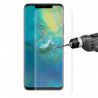 Für Huawei Mate 20 2x 4D 0, 3 mm H9 Full Curved Display Hart Glas Transparent Neu