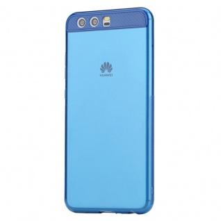 Original ROCK Silikon Case Tasche Transparent / Blau für Huawei P10 Hülle Schutz