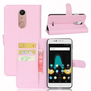 Tasche Wallet Premium Rosa für Wiko Upulse Lite Hülle Case Cover Etui Schutz Neu