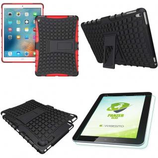 Hybrid Outdoor Schutzhülle Rot für iPad Pro 9.7 Tasche + 0.4 H9 Hartglas Case