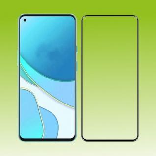 Für OnePlus 9 2x 3D Display Full LCD H9 Hart Glas Schwarz Folie Panzer Schutz