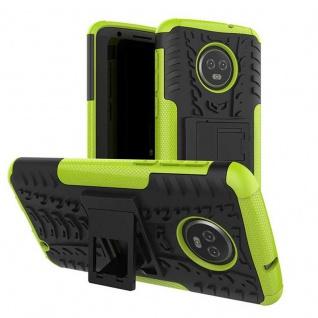 Für Motorola Moto G6 Plus Hybrid Case 2teilig Outdoor Grün Etui Tasche Hülle Neu