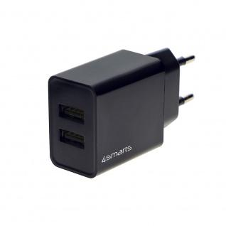 4smarts Netzladegerät VoltPlug Dual 12W Schwarz USB Typ-A Charge Stecker Zubehör