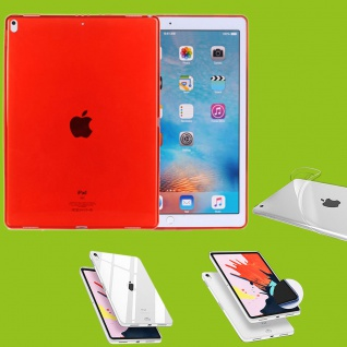 Für Apple iPad Pro 12.9 Zoll 2018 Rot Tasche Hülle Case Cover TPU Silikon dünn