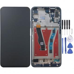 Für Huawei Honor 9X / 9X Pro Display Full LCD Touch mit Rahmen Ersatz Blau Neu