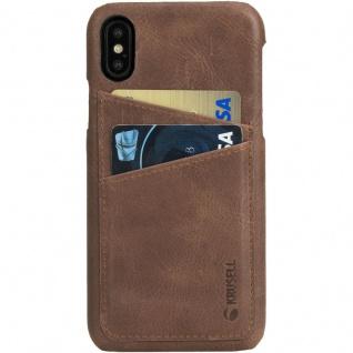 Ledercover Cover Case für Apple iPhone X 5.8 Leder Schutzhülle Hülle Cognac Neu