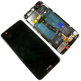 Huawei Nova Displayeinheit LCD Rahmen 02351CKD Komplett TouchScreen Akku Schwarz