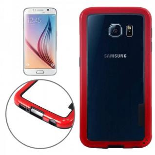 Hybrid Bumper Rot Hülle Case Schale Tasche für Samsung Galaxy S6 G920 G920F Neu