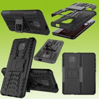 Für Motorola Moto E7 Plus Outdoor Schwarz Handy Tasche Etuis Hülle Cover Case