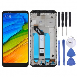 Für Xiaomi Redmi 5 Plus Reparatur Display LCD Komplett mit Rahmen Touch Schwarz