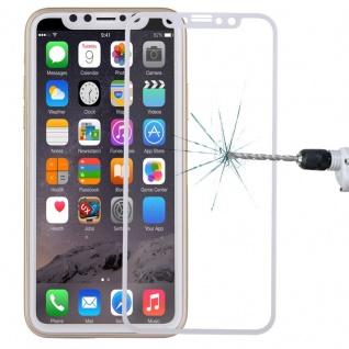 Premium 0, 3 mm H9 Hartglas Weiß Folie für Apple iPhone X / XS Schutz Neu