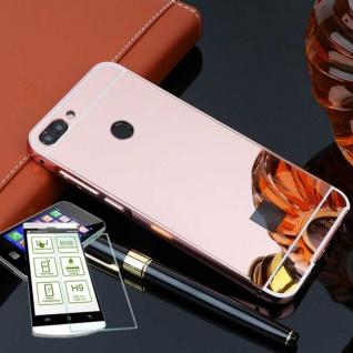 Alu Bumper 2 teilig Pink + 0, 3 H9 Glas für Huawei P Smart Tasche Hülle Case Neu