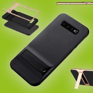 Für Samsung Galaxy S10 Plus Standing Hybrid Schwarz Tasche Etuis Hülle Outdoor