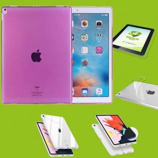 Für Apple iPad Pro 12.9 Zoll 2018 Pink Hülle Tasche Cover + H9 Hart Glas Etui